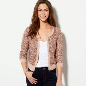 American Eagle Pink Rose Gold Sequined Cardigan S